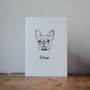 French Bulldog Valentines Card - love & romance cards