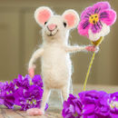 Mouse With Pansy