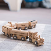Personalised Christening Wooden Freight Train - toys & games