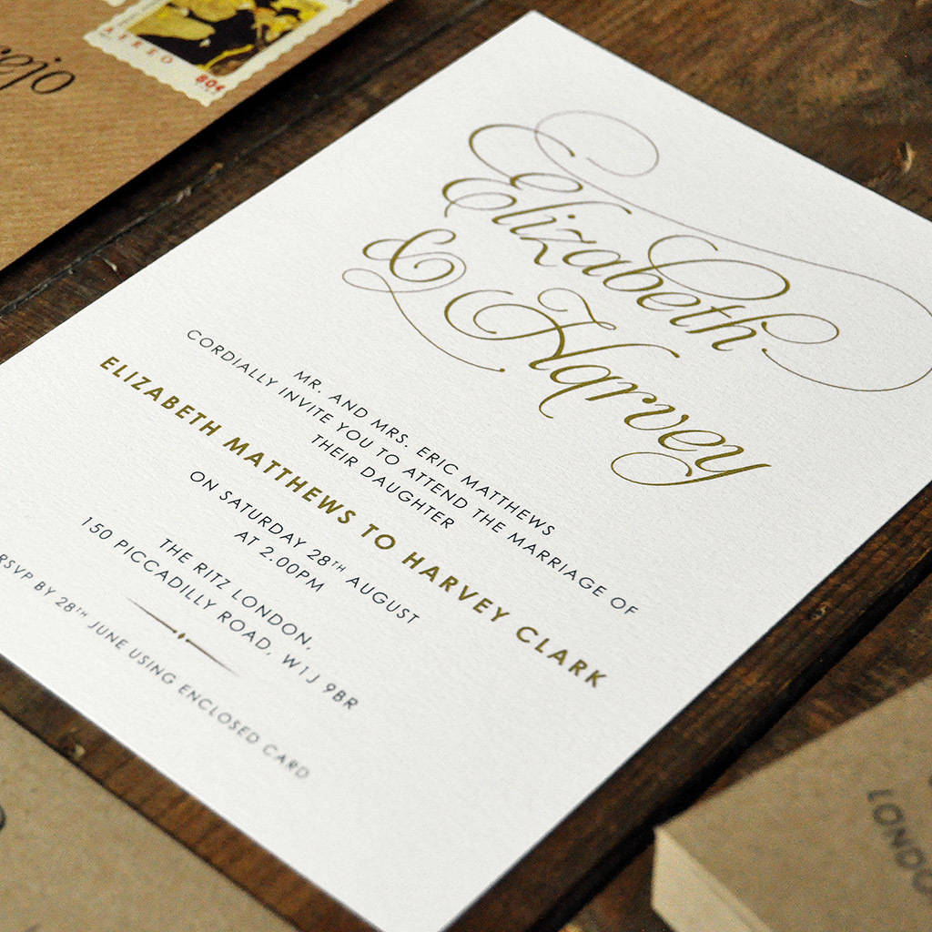 Baroque Wedding Invitation Set By Feel Good Wedding Invitations