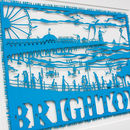 Brighton Seafront Folk Art Papercut