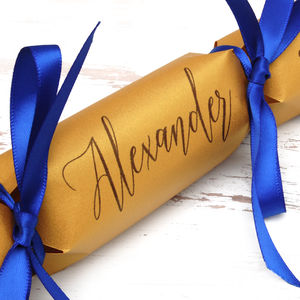 Six Personalised Calligraphy And Lace Crackers - whatsnew