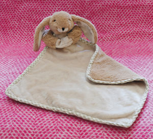 Brown Bunny Baby Toy Soother/Comforter