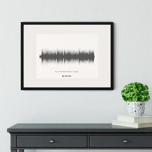 Personalised Favourite Song Sound Wave Print