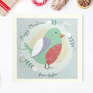 Christmas Mini Cards: Robin