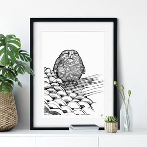 Baby Owl Fine Art Giclée Print - new in prints & art