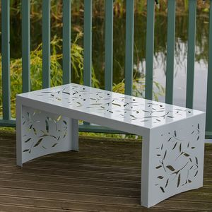 Cutout Twig Pattern Metal Garden Coffee Table