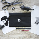 'Yin The Yang Out' Embroidered Pencil Case