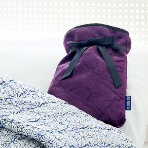 Amethyst Or Jade Velvet Mini Hot Water Bottle