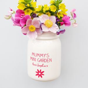 Personalised Hanging White Jar - home accessories