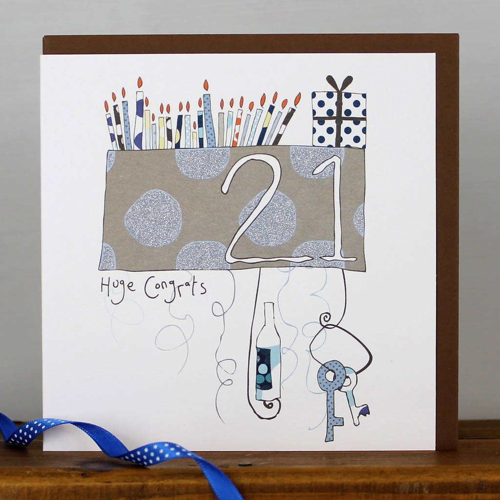 21st birthday card malefemale by molly mae notonthehighstreet 21st birthday card malefemale bookmarktalkfo Gallery