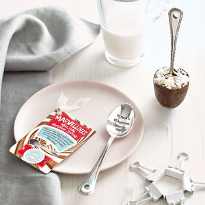 Personalised Hot Chocolate Office Spoon