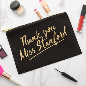 Personalised Teacher Make Up Bag - make-up & wash bags