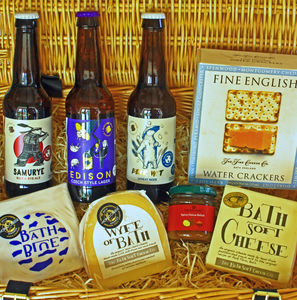 Bath Cheese And Local Beer Hamper - food & drink