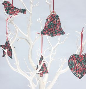 Pre Order Liberty Print Christmas Tree Decorations