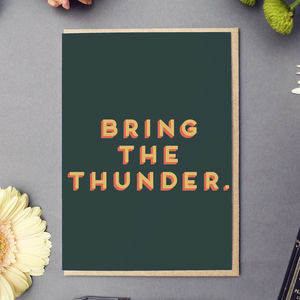 'Bring The Thunder' Good Luck Card - good luck cards