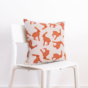 Leaping Hare Cushion - decorative accessories
