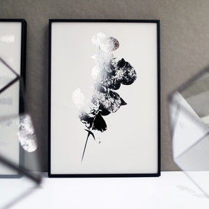 Metallic Eucalyptus Leaf Botanic Print - gallery wall edit