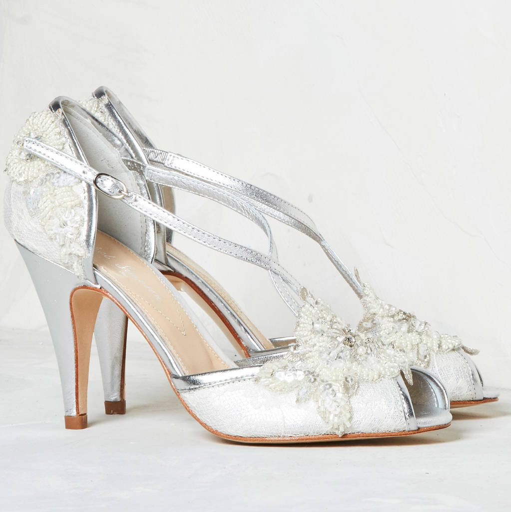 Wedding Shoe Charlotte In Ivory Lace By Rachel Simpson