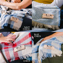 Personalised Couples Initials Blanket Or Throw