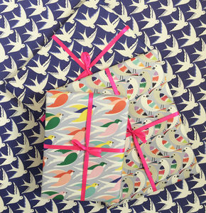 Bird Print Wrapping Paper, Gift Wrap Collection