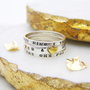 Personalised Sterling Silver Stacking Ring - rings