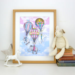 Personalised Animal Fly Away Print - baby & child sale