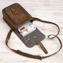 Personalised Buffalo Leather Satchel Style Shoulder Bag