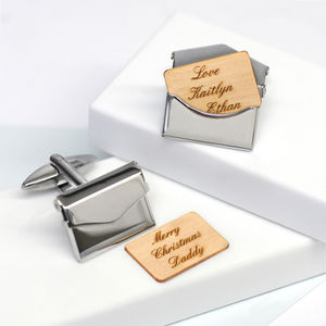 Personalised Envelope Cufflinks - gifts for fathers