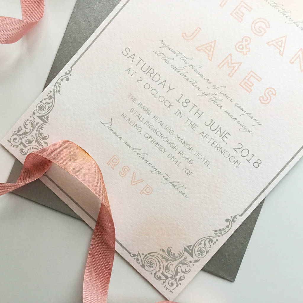 Unique Art Deco Wedding Invitations Wedding Ideas