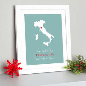 'Where It All Began' Personalised Print - gifts for travel-lovers