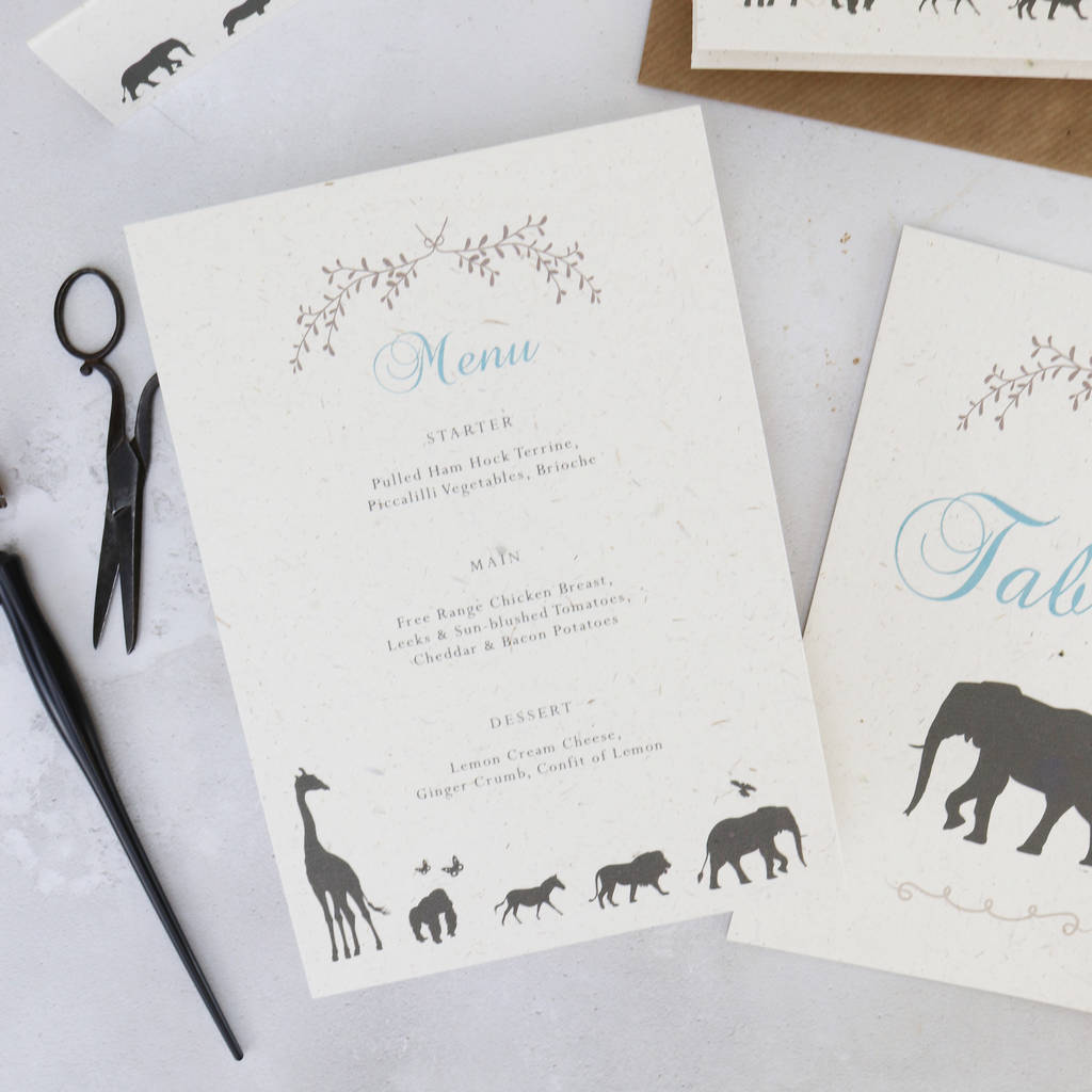 Elegance Safari Wedding Invitation Set By Summer Lane Studio