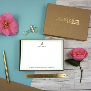 Aviary Collection Personalised Correspondence Cards - gifts for her