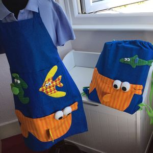 Fairtrade Apron And Gym Bag Set