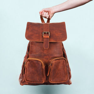Personalised Leather Roma Backpack/Rucksack - backpacks