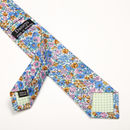 Blue Summer Floral Slim Tie