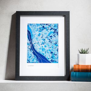 Personalised Abstract Map Print - personalised gifts for dads