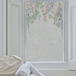 Falling Leaves Frosted Window Film - window film