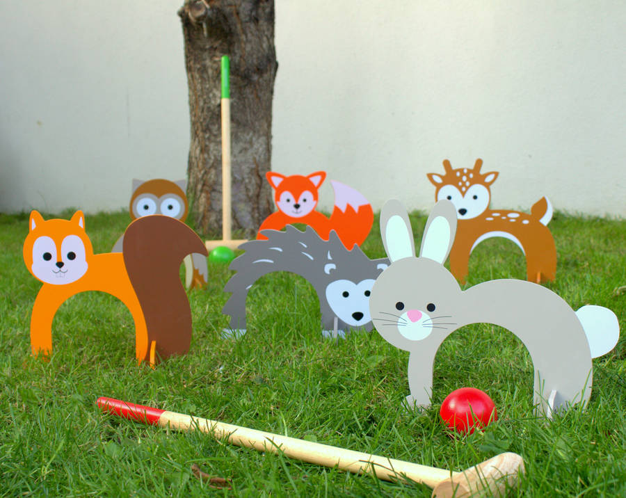 Woodland Animal Croquet Set By Little Ella James
