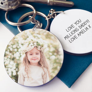 Dad's Personalised Photo Message Keyring - men's accessories