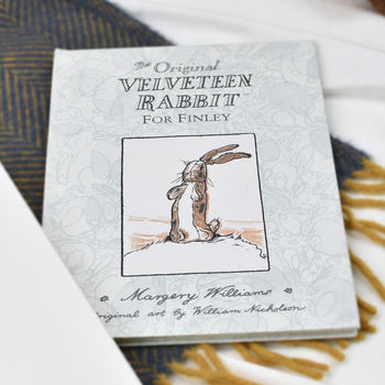 Personalised Velveteen Rabbit Book: Christening Gift