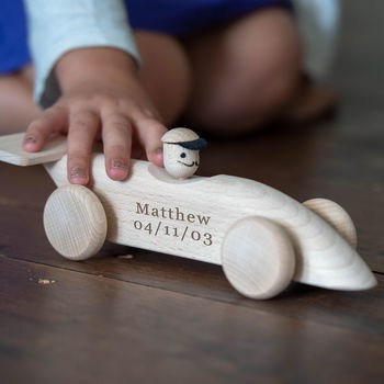 Personalised Wooden Car / Push Along Toy