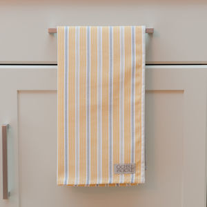 Ledbury Ochre Grey Tea Towel - kitchen