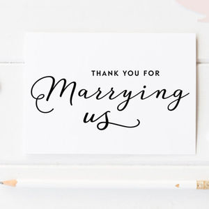 'Thank You For Marrying Us' Wedding Card - wedding cards