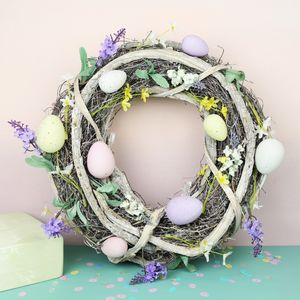 Floral Easter Egg Wreath