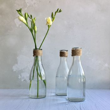 Set Of Nautical Bottle Vases