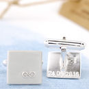 personalised hidden message cufflinks