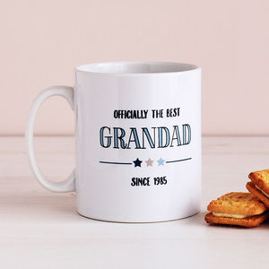 Officially The Best Dad / Grandad, Personalised Mug - gifts for grandfathers