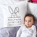 New Baby Name, Date And Weight Cushion