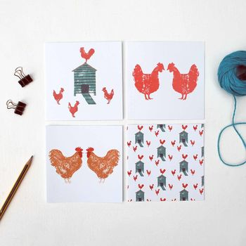Pack Of Hen Greetings Cards